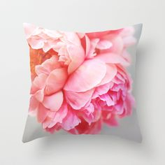 Peonies Forever Throw Pillow by Creature Comforts