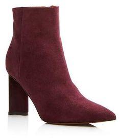 b4553c00bf1b Clergerie Women s Katia Pointed Toe Suede Block High-Heel Booties