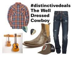 """""""Well Dressed Cowboy"""" by distinctivedeals on Polyvore featuring True Religion, Ralph Lauren, Gucci, men's fashion and menswear"""