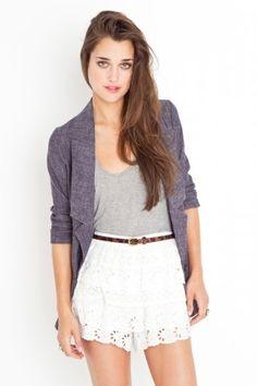 Tiered Eyelet Shorts - StyleSays