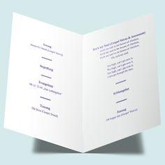 Kirchenhefte & Programmhefte zur Hochzeit individuell gestalten - Verknüpftes Herz: maritim und schlicht