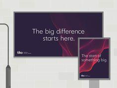 Tiko branding, by Moving Brands Logo Design, Identity Design, Visual Identity, Web Design, Corporate Identity, Corporate Design, Business Design, Design Innovation, Teaching Programs