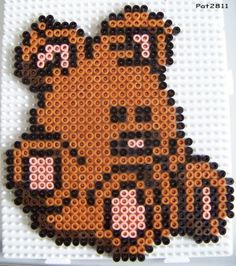 Pooky Garfield hama perler beads by Les loisirs de Pat