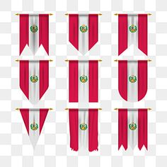 Peru Flag In Various Shape Peru Flag Of Peru Flag Png And Vector With Transparent Background For Free Download Flag Vector Peru Flag Patriotic Banner