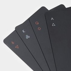 """Ever heard the phrase, """"Less is more""""? Well, Minim Playing Cards is the proof in the proverbial pudding. Regulation playing cards without all the pomp and flash"""
