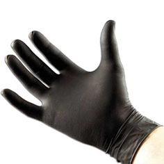 Small Black Nitrile Coated Gloves 100pk