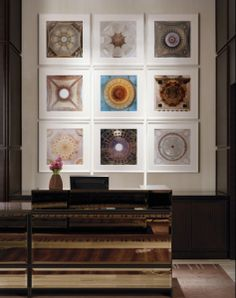 Architectural detail framed photographs. LOVE this!