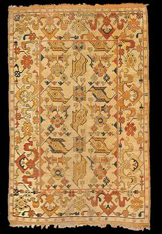 Ushak Bird rug, Ushak-Selendi area, 17th century, St Margaret's Church (inv 503), Mediaş, Romania. illustrated in Stefano Ionescu, Antique Ottoman Rugs in Transylvania
