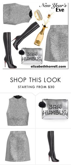 """NEW YEARS EVE"" by elizabethhorrell ❤ liked on Polyvore featuring Topshop, Christian Louboutin and Monica Vinader"
