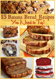 Dig into this list of 15 Banana Bread Recipes to find a perfect breakfast, snack… Bread Head, Bread Cake, Dessert Bread, Delicious Desserts, Dessert Recipes, Yummy Food, Fruit Recipes, Breakfast Recipes, Gluten Free Banana Bread