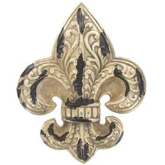 Small White & Brown Fleur-De-Lis Wall Plaque | Shop Hobby Lobby