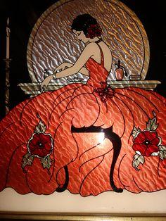 1930s VTG ART DECO Foil Silver Silhouette Art LADY VANITY FAIR by ModSquadPicking, via Flickr