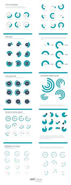 20 new and free infographic kits & templates – Ecommerce Platforms - Top-Trends Web Design, Graph Design, Chart Design, Free Infographic Templates, Chart Infographic, Circle Graph, Poster Design Layout, Was Ist Pinterest, Affinity Designer