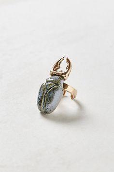 Glazed Scarab Ring #anthropologie