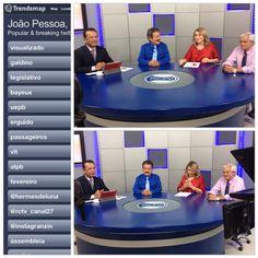 Rede Debate ao vivo na RCTV entrevistando o deputado Tião Gomes ao lado de Lena Guimarães e Wellington Farias