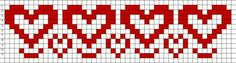 Free Bead Loom Patterns: Hearts Free Bead Loom Patterns: Hearts The post Free Bead Loom Patterns: Hearts appeared first on Weaving ideas. Cat Cross Stitches, Cross Stitch Heart, Beaded Cross Stitch, Cross Stitch Borders, Cross Stitch Patterns, Seed Bead Patterns, Weaving Patterns, Embroidery Patterns, Knitting Charts