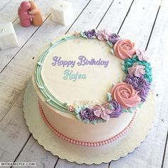 The name [hafsa] is generated on Romantic Colorful Roses Birthday Cake With Name image. Download and share Birthday Cake With Name images and impress your friends.