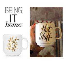 """""""Bring It Home: Easy, Tiger Hot Stuff Mug"""" by polyvore-editorial ❤ liked on Polyvore featuring interior, interiors, interior design, home, home decor, interior decorating and bringithome"""