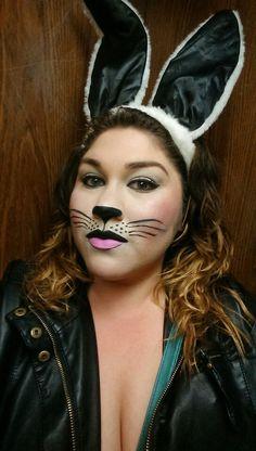 Halloween bunny makeup