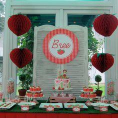 Bree's Strawberry Garden: A Strawberry Shortcake 1st Birthday Party