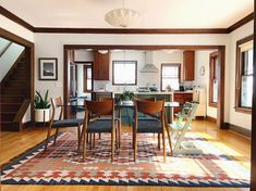 10 Paint Colors That Play Well With Wood Trim Natural wood trim looks beautiful and traditional, as long as it is paired with the right wall color. Get inspired by these best picks. Paint Colors For Living Room, Paint Colors For Home, My Living Room, Living Room Ideas Dark Wood, Livingroom Paint Ideas, Small Living, Natural Wood Trim, Dark Wood Trim, Wood Trim Walls