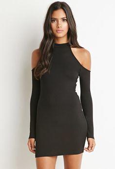 Open-Shoulder Mock Neck Dress | Forever 21 - 2000172034