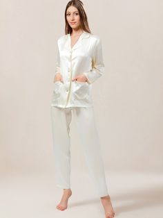 Indulge in pure luxury every night in this mulberry silk pajama set for  women. Made a53a30d50