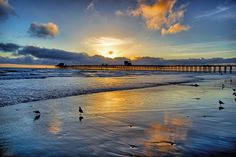 Is the son watching me? Always.   Sunset at Oceanside Pier - April 1, 2013 by Rich Cruse, via 500px