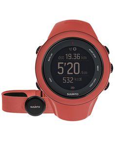 Suunto Ambit 3 Sport Coral (HR) - GPS - Mobile Connection - Heart Rate Belt