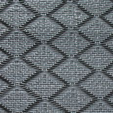 kunststof kleed large   ruit zwart / grijs