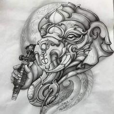 God Tattoos, Tattoo You, Big Tattoo, Khmer Tattoo, Ganesh Tattoo, Ozzy Tattoo, Desing Inspiration, Abstract Sketches, Buddha Tattoos