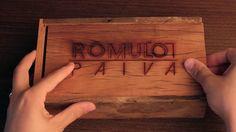Caixa para fotos + Pendrive de Madeira Rustica