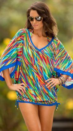 Swim Systems Seagrass Kimono CoverUp Style F927
