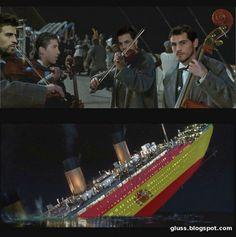 Esto es lo q le pasaría al titanic español😂