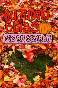 Do you love Autumn? If so, then you'll enjoy these easy-read word search puzzles! They will not only test your skills, but you will have fun pondering all of the bliss that is Autumn. Pumpkin Show, H Words, Word Search Puzzles, Book Gifts, Bliss, Autumn, Times, Fall, Word Puzzle Games