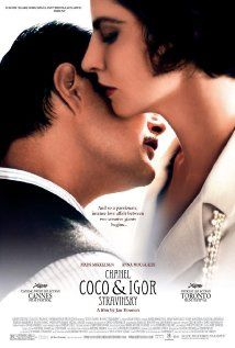 """""""Coco Chanel And Igor Stravinsky"""" starring Anna Mouglais and Mads Mikkelsen.  Character driven.  Great chemistry between the actors.  http://www.youtube.com/watch?v=21ldvFgZCEI"""