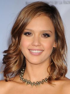 Try a warm caramel hue like #JessicaAlba for gorgeous take on brown. #celebhaircolor #brunette