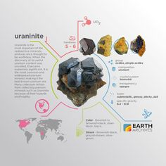 Uraninite is a radioactive uranium-rich mineral and ore with a chemical composition that is largely UO2.