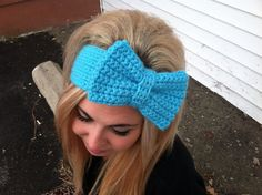 crochet head band with bow