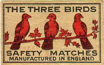 the three birds safety matches