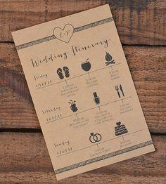 Wedding Itinerary/Schedule Wedding Weekend by WanderlustWeddings