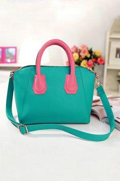 Vintage Color Block Bag OASAP.com