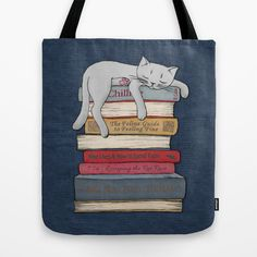 How to Chill Like a Cat Tote Bag by Micklyn - $22.00