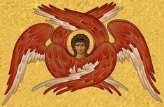 Seraphim Angels are depicted with six wings and surround the throne of God singing without ceasing – Holy, holy, holy is the Lord of hosts: the whole earth is full of his glory – (Isaia…
