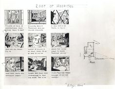 """A storyboard for a scene from """"Citizen Kane"""" (1941)"""