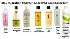 Maximum Hydration Method Approved Conditioner List   Ms. Dee Kay : I share my Passions