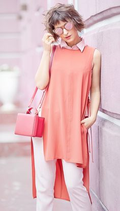 total pink outfit | rose quartz | summer outfit ideas | street style | mark cross grace bag