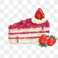 Chocolate Strawberry Cake, Chocolate Strawberries, Strawberry Cheesecake, Cake Clipart, Cake Vector, Ice Cream Plating, Cake Background, Strawberry Flower, Fresh Cake