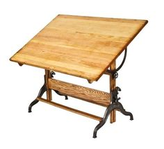 highly desirable c. 1920's vintage industrial dietzgen factory office adjustable drafting table - Furniture - Products