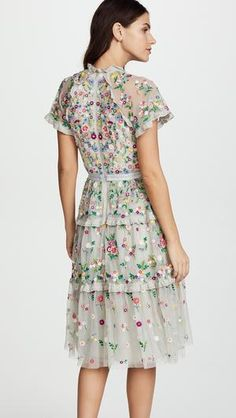 Flowery Dream Dress – Style Me Love Daisy Dress, Wedding Function, Pretty Outfits, Pretty Clothes, Tiered Dress, Dress Cuts, Elegant Outfit, India Fashion, Dream Dress